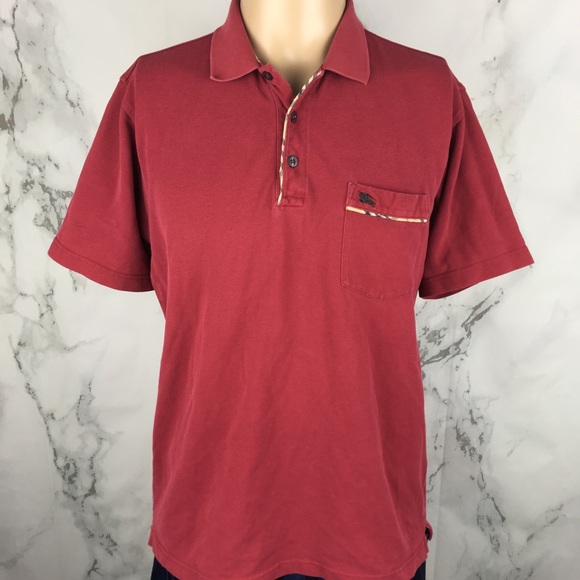 Burberry Other - Vintage Burberry London Maroon Polo Shirt